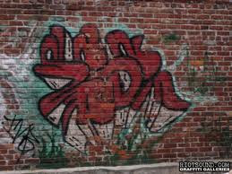 graffiti brick wall design