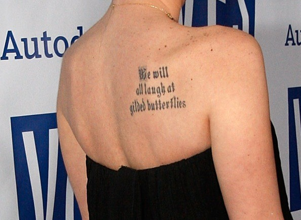 tattooed quotes. tattoos of quotes from the