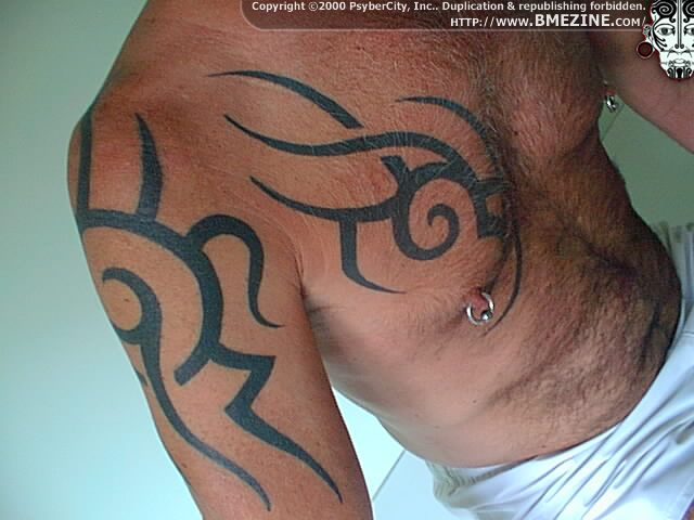 Best Chest Tribal Tattoo Style for Men 2011