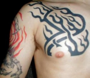 tribal chest tatto design ideas