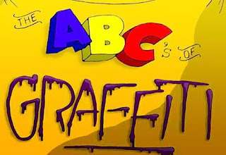 bright Color Grafiti Fonts ABC