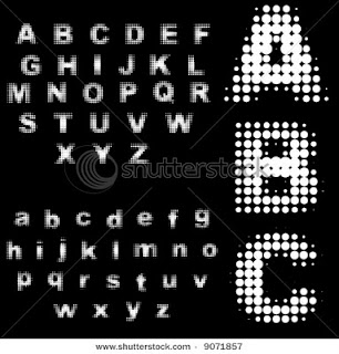 Black White Graffiti Fonts ABC