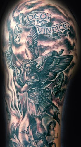 rose tattoos for men on arm. Tattoos For Men: Angel arm