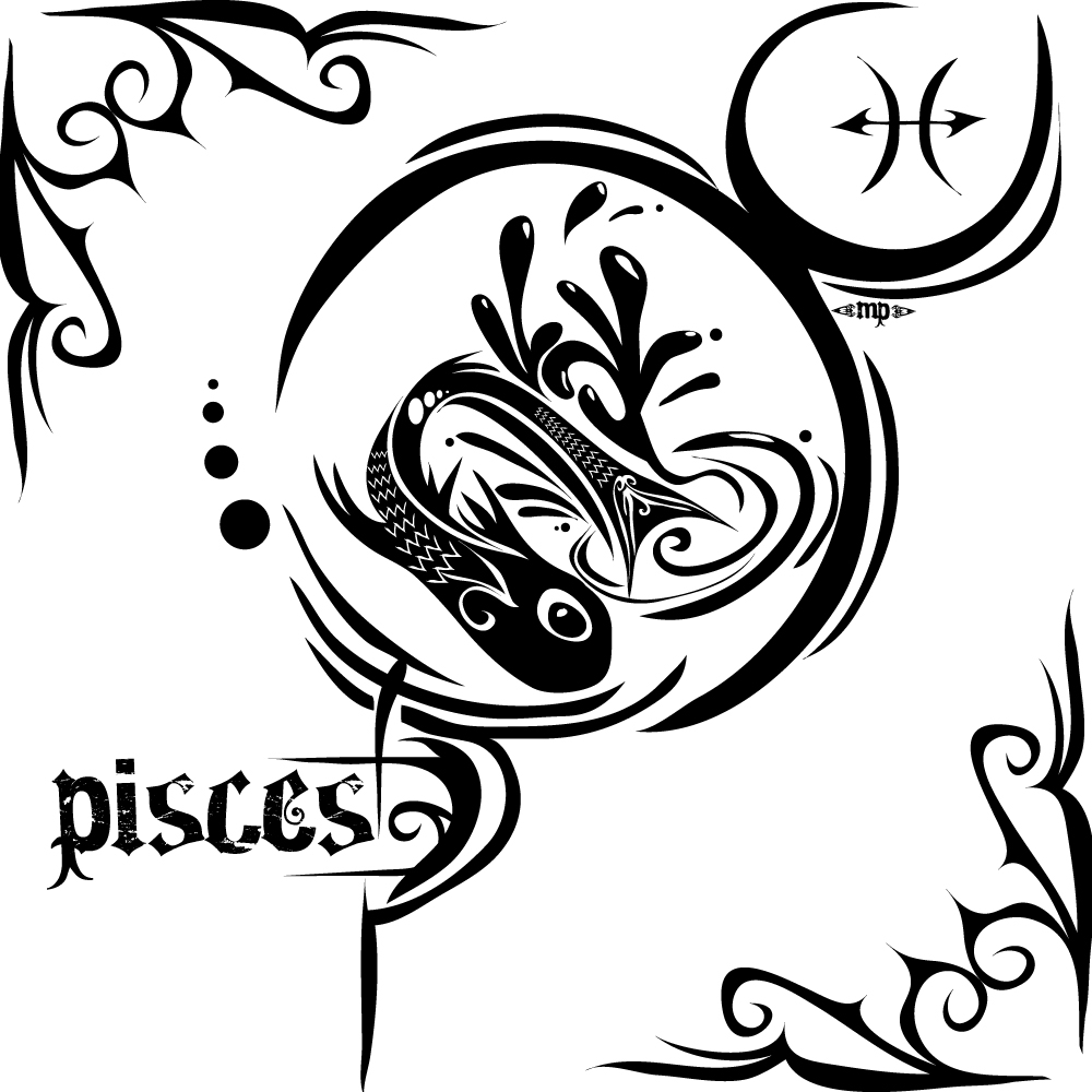 "Zodiac Symbols "" Piscess Scorpio Aquarius "" Tattoos"
