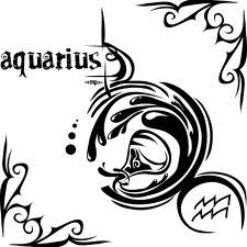 aquarius zodiac symbol tattoos design