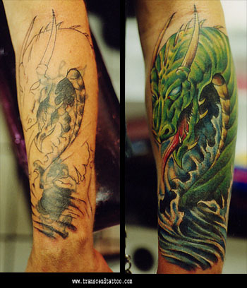 Rose cover up tattoo. Extreme Tattoo - Tattoos Dragon Design