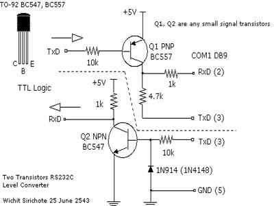 Simple RS 232 Level Converter