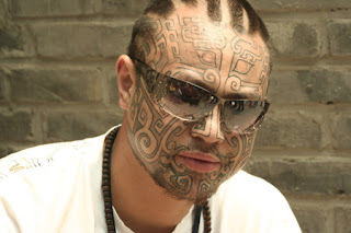 Cool Face Tattoos