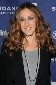 SJP wearing akoya pearls