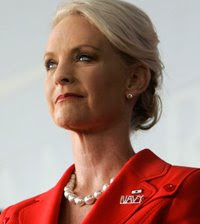 Cindy McCain Wearing Pearls
