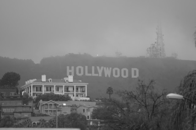 Hollywood Sign in the Fog