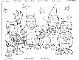 Halloween Math Coloring Sheets 2nd Grade