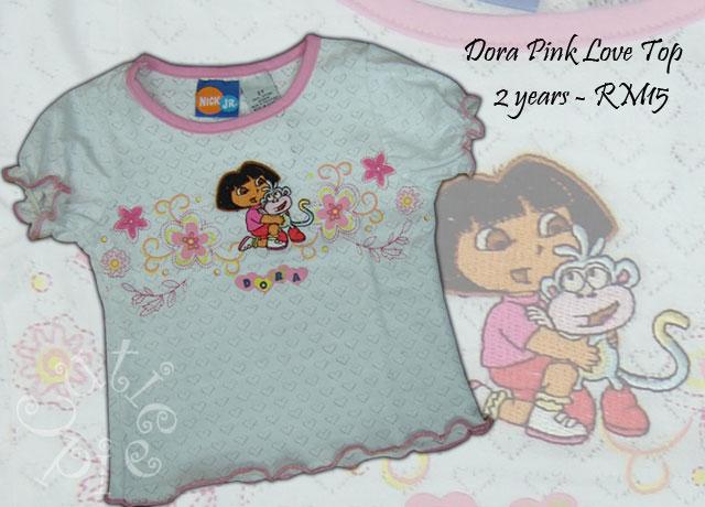 Dora Pink Love Top