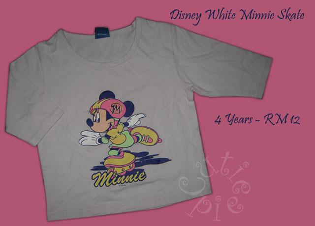 Disney White Minnie Skate