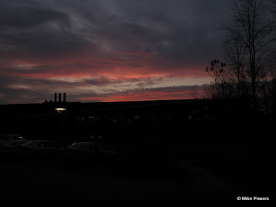 Sunset over the Cornell Lab of Ornithology