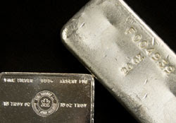 Silver bullion Bars