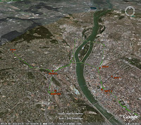 Belgrade, GPS map