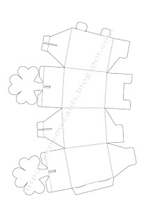 shamrock cut out template - extreme cards and papercrafting shamrock box