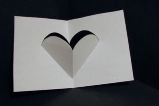 v-fold heart pop up card