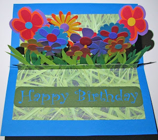 flower pop up birthday card