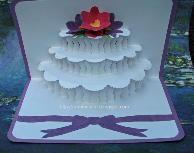 Extreme Cards and Papercrafting Origamic Architecture Wedding Cake – Pop Up Birthday Cake Card Template