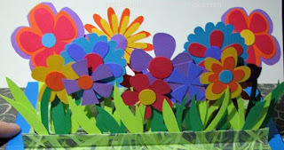 flower pop up card