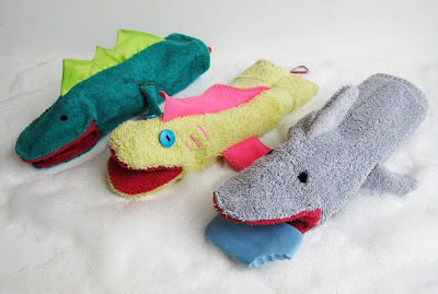 Títeres guantes de baño para niños
