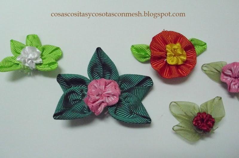 Como hacer flores de liston cositasconmesh - Www como hacer flores com ...