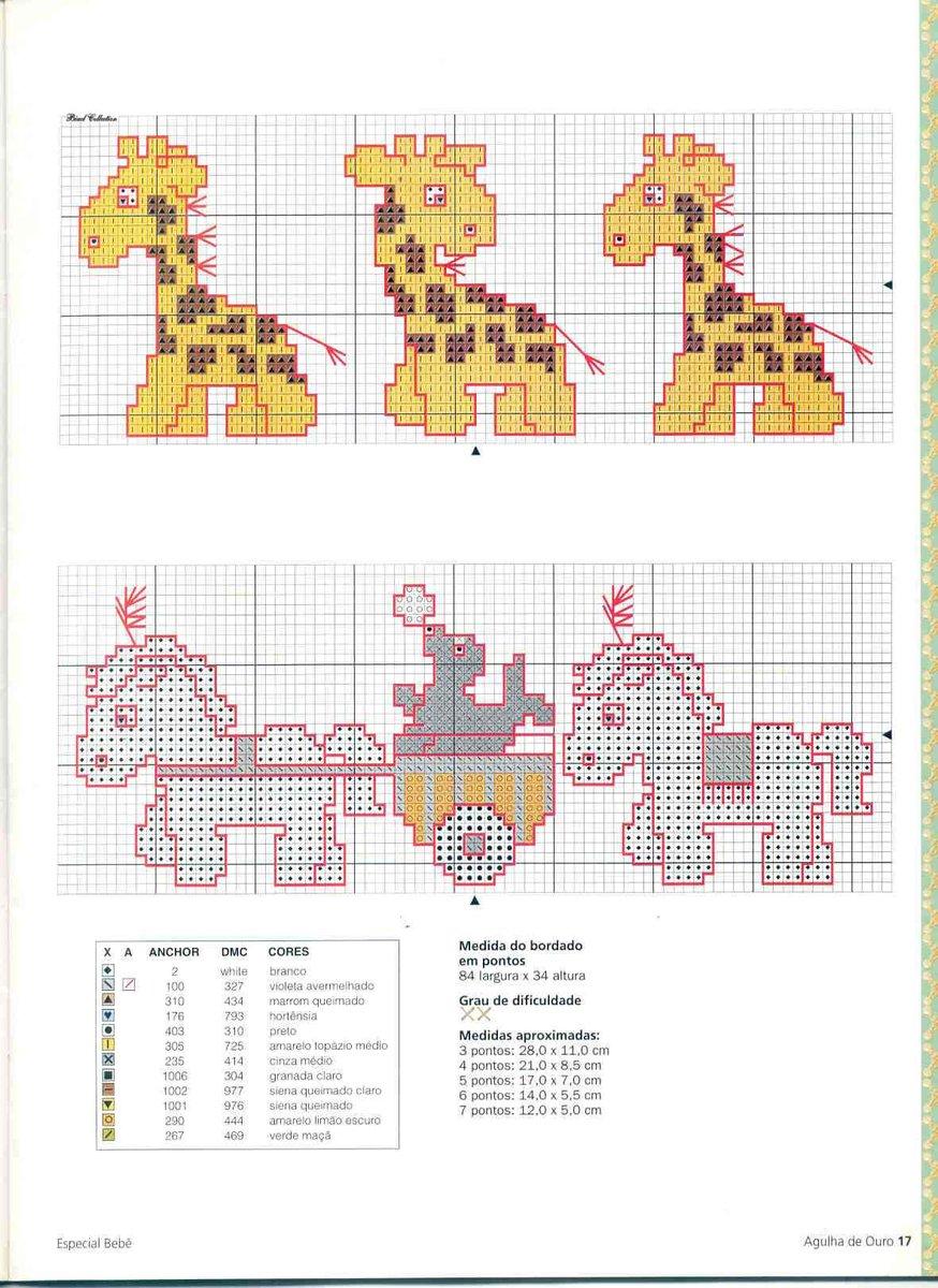 Схема вышивки крестом жирафа