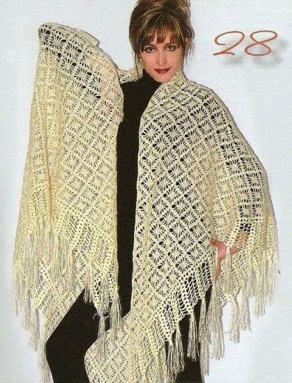 Puntos para tejer chal a crochet ~ cositasconmesh