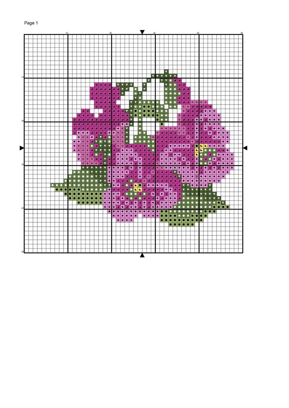 Graficos de variadas flores en punto de cruz : cositasconmesh