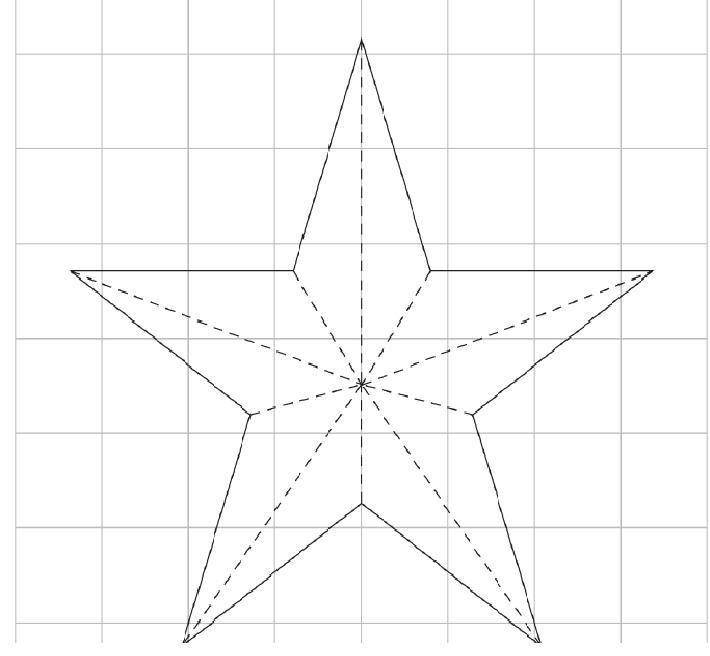 Molde de estrella navideña de 5 picos