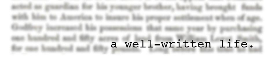 a well-written life