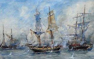 'Combate de San Nicolás', óleo de Justo P. Lynch, sin fecha, extraído de wikipedia.org