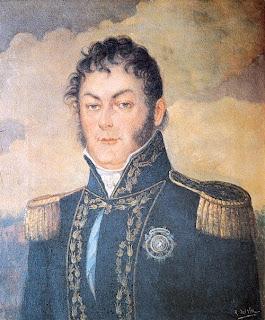 Don Juan Martín de Pueyrredón, 'Juan Martín de Pueyrredón, prócer argentino', obra de don Rafael Domingo del Villar -1823-, del Museo Histórico Nacional, tomada de Wikipedia