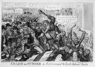'Killing No Murder as Performing at the Grand National Theatre', Isaac Robert Cruikshank, 1809