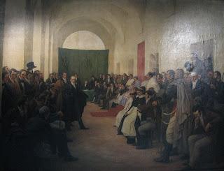 'Cabildo Abierto del 22 de Mayo de 1810', 1910,óleo de Fray Pedro Subercaseaux Errázuriz, Museo Histórico Nacional, tomado de wikipedia