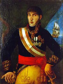 'Baltasar Hidalgo de Cisneros, teniente general de la Real Armada Española, Virrey del Río de la Plata' año 1822. Autor anónimo. Museo Naval de Madrid. Tomada de wikipedia