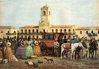Cabildo y Plaza Mayor de Buenos Aires, sin información de obra ni de autor