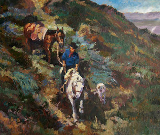 'Cerro abajo',óleo de Darío Mastrosimone, tomado de dariomastrosimone.com.ar