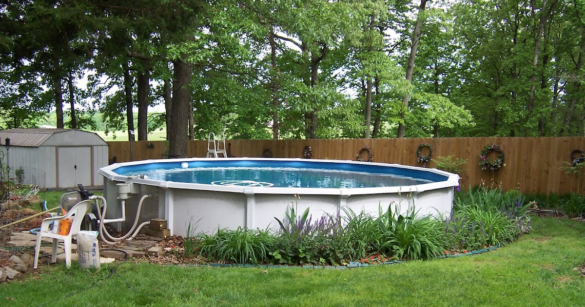 In the garden landscaping your above ground pool for Garden near pool