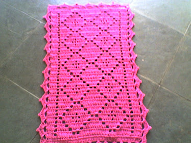 Tapete de lozangulo rosa