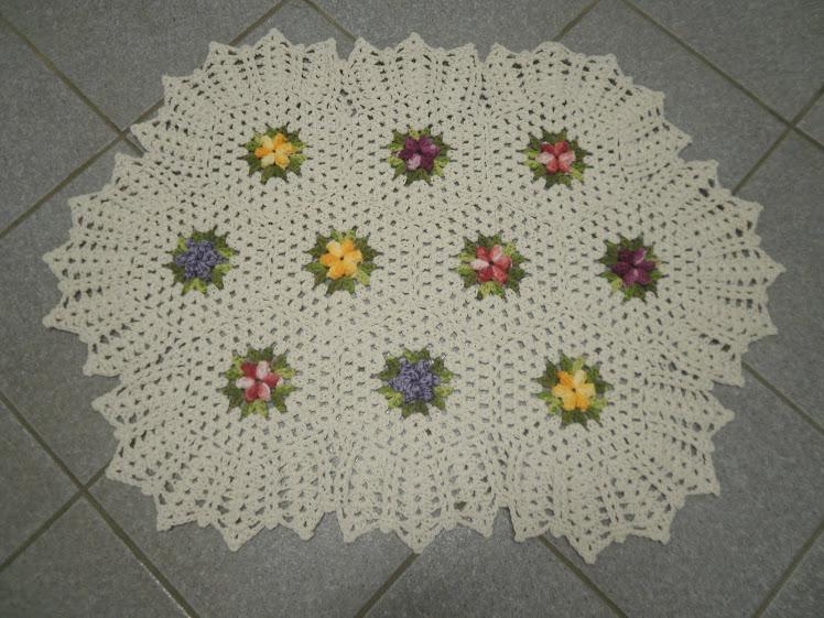 Tabete de florzinhas coloridas