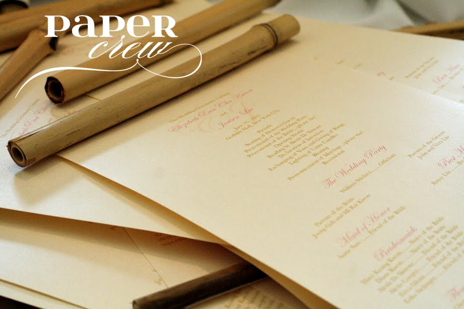 We at PAPER CREW was able to create these beautiful Bamboo Scroll