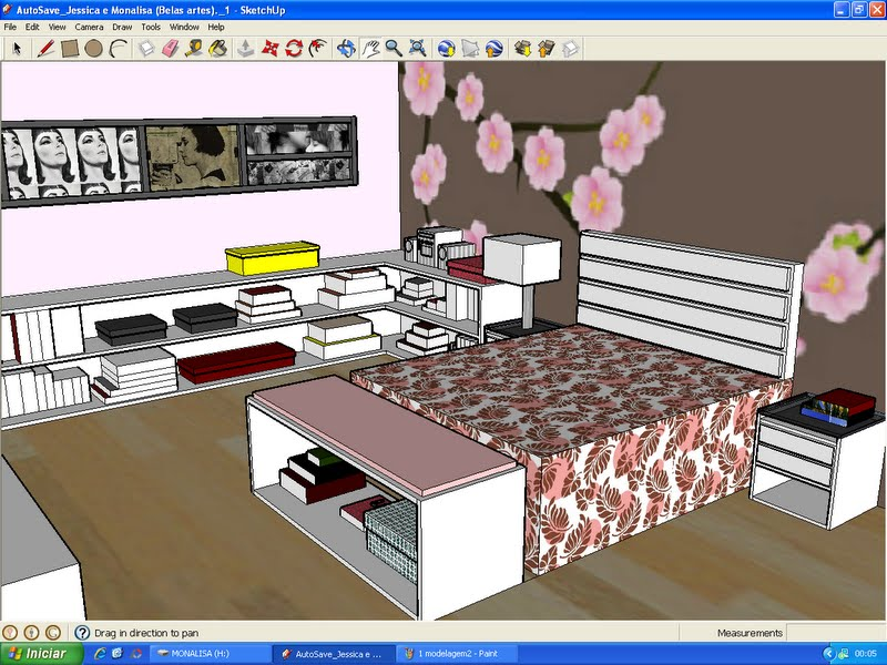 Casinha cor de goiabada sketchup for Mobilia para sketchup 8