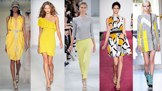 Spring 2010 Fashion Week Yellow and Grey Trend
