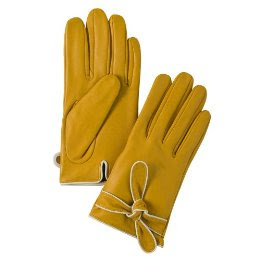 yellow leather gloves from Target