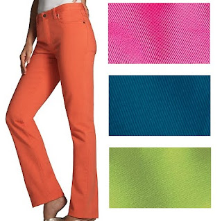 Colored Jeans teal, hot pink, orange, lime green