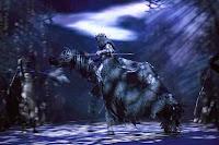 EFECTOS ESPECIALES. La puesta incluye escenas en las que Frodo desaparece y proyecciones en telas que simulan batallas en tres dimensiones. (EFE)