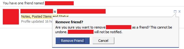 Remove friend